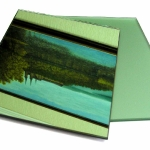 Green mirror and satin green mirror
